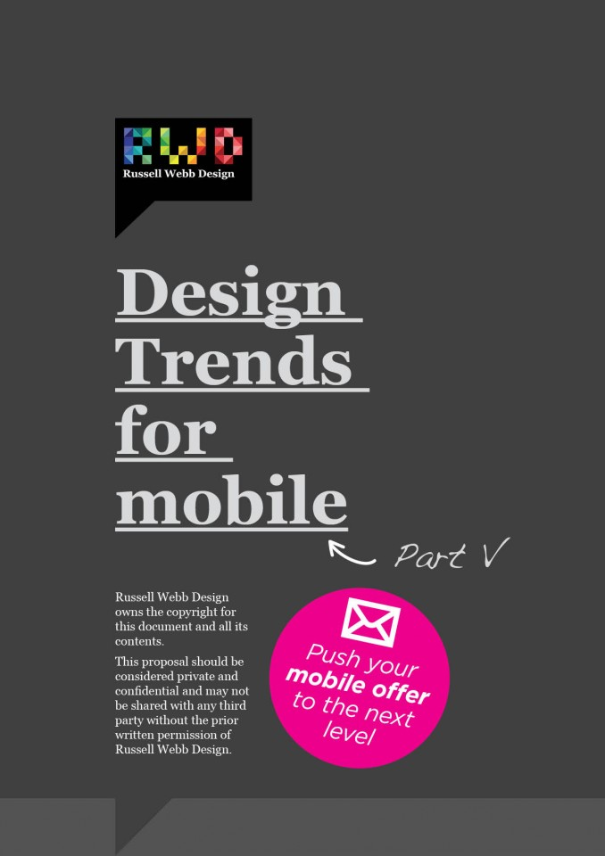 Design Trends For Mobile - Part 5 _ Minimise The Taps